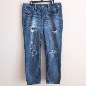 American Eagle boyfriend crop jeans size 8 regular